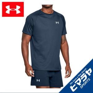 アンダーアーマー 半袖 Tシャツ メンズ ヒートギアランTシャツ ランニング MEN 1289681-408 UNDER ARMOUR