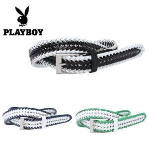 プレイボーイ PLAYBOY ゴルフ ベルト メンズ 革メッシュ 01201-029|himaraya