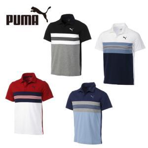 プーマ ポロシャツ 半袖 メンズ エッセンシャル ボーダースキッパー 851241 PUMA...
