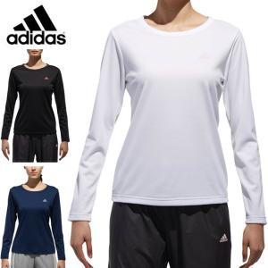 アディダス Tシャツ 長袖 レディース D2Mトレーニング定番ロゴワンポイント長袖Tシャツ EUD15 adidas