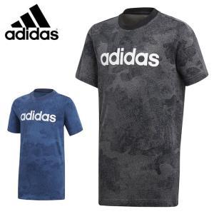 アディダス Tシャツ 半袖 ジュニア B ESS リニアロゴ Tシャツ CAMO カモ キッズ 子供用 ジム トレーニング EMX73 adidas