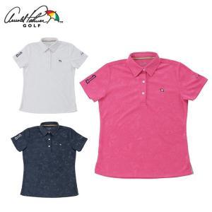 アーノルドパーマー arnold palmer ゴルフウェア ポロシャツ 半袖 レディース 傘エンボス半袖シャツ AP220301H03|himaraya