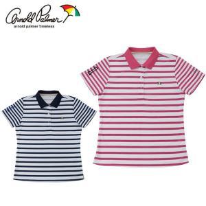 アーノルドパーマー arnold palmer ゴルフウェア ポロシャツ 半袖 レディース ボーダー半袖シャツ AP220301H06|himaraya