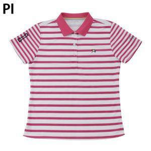 アーノルドパーマー arnold palmer ゴルフウェア ポロシャツ 半袖 レディース ボーダー半袖シャツ AP220301H06|himaraya|02