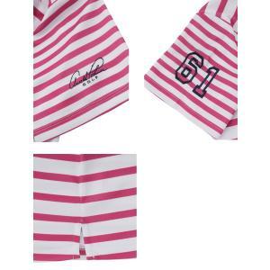アーノルドパーマー arnold palmer ゴルフウェア ポロシャツ 半袖 レディース ボーダー半袖シャツ AP220301H06|himaraya|06
