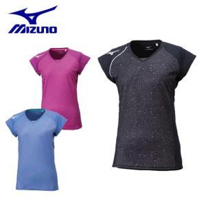 ミズノ バレーボールウェア 半袖シャツ レディース プラクティスシャツ V2MA8280 MIZUNO|himaraya