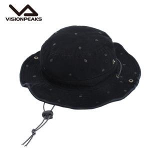 ビジョンピークス VISIONPEAKS ハット メンズ レディース スラブプリント リーフ VP171201H04 BLK|himaraya