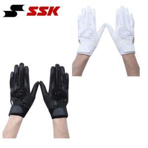 エスエスケイ SSK 野球 バッティンググローブ 両手用 メンズ ジュニア シングルバンド手袋 高校野球対応 BG3004W|himaraya