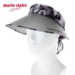マリ クレール marie claire ゴルフ サンバイザー レディース エステルシフォンUVバイザー 718-907|himaraya