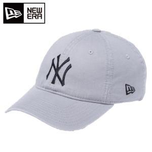 ニューエラ NEW ERA キャップ メンズ レディース 9TWENTY Cloth Strap ウォッシュドコットン ニューヨーク ヤンキース グレー × ブラック 11308522|himaraya