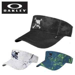 オークリー ゴルフ サンバイザー メンズ SKULL GRAPHIC PK VISOR 3.0 スカルグラフィックバイザー 911990JP OAKLEY|himaraya