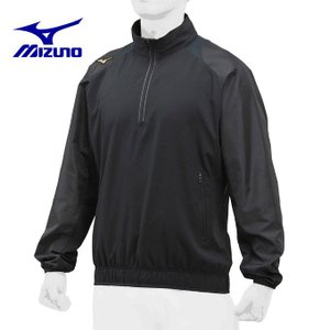 ミズノ 野球ウェア トレーニングウェア メンズ トレーニングジャケットハーフZIP 長袖 ユニセックス 12JE8J8109 ミズノプロ|himaraya