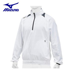 ミズノ 野球ウェア トレーニングウェア メンズ トレーニングジャケットハーフZIP 長袖 ユニセックス 12JE8J8101 ミズノプロ|himaraya