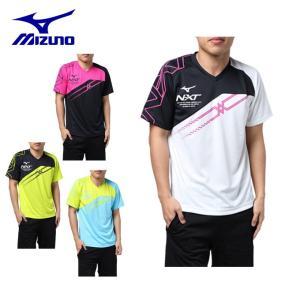 ミズノ テニスウェア バドミントンウェア Tシャツ 半袖 メンズ プラクティスシャツ 62JA8Z08 MIZUNO