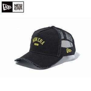 ニューエラ NEW ERA ゴルフ キャップ メンズ A-Frame トラッカー カレッジ ブラック × サイバーグリーン 11557105 himaraya