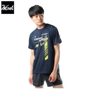ニシ スポーツウェア 半袖Tシャツ メンズ アスリートプライド 走 HS N63-054HS-05 NISHI himaraya