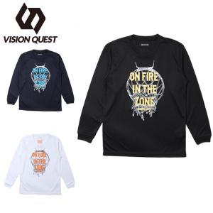 ビジョンクエスト VISION QUEST バスケットボール 長袖シャツ ジュニア プリントTシャツ VQ570414H04|himaraya