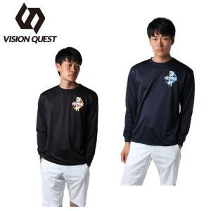 ビジョンクエスト VISION QUEST バレーボール 長袖シャツ メンズ 長袖バレー文字Tシャツ VQ570514H01|himaraya