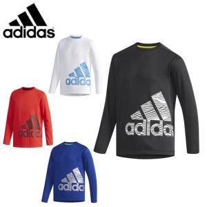 アディダス Tシャツ 長袖 ジュニア TRN CLIMALITE 長袖Tシャツ FAP18 adidas