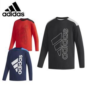 アディダス Tシャツ 長袖 ジュニア ESS コットンタッチ スーパービッグロゴ長袖Tシャツ FKM13 adidas