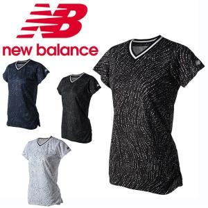 bb4d9a436950 ニューバランス テニスウェア Tシャツ 半袖 レディース V-ネックショートスリーブ JWTT8507 new balance