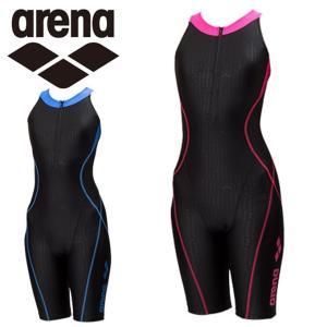 f00c353cffc アリーナ arena フィットネス水着 オールインワン レディース AQUA EXA ファスナー付きサークルバックスパッツ FLA-8802W ...