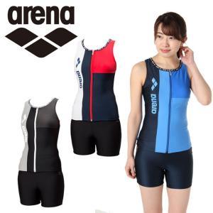 アリーナ arena フィットネス水着 セパレート レディース ぴったりパッド 大きめカラースナップ付きHASSUIセパレーツ FLA-8835W|himaraya