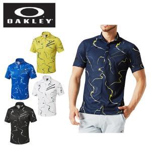 オークリー ゴルフウェア ポロシャツ 半袖 メンズ SKULL WHIRLWIND CLAW ZIP SHIRTS 434300JP OAKLEY|himaraya