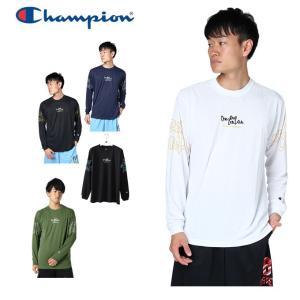チャンピオン Champion バスケットボール 長袖シャツ メンズ プラクティスロングスリーブTシャツ E-MOTION C3-NB410|himaraya