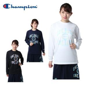 チャンピオン Champion バスケットボール 長袖シャツ レディース ウィメンズ プラクティスロングスリーブTシャツ E-MOTION CW-NB415|himaraya