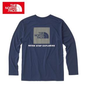 ノースフェイス Tシャツ 長袖 メンズ L/S Square Logo Tee ロングスリーブスクエアロゴティー NT81842 THE NORTH FACE
