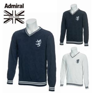 アドミラル Admiral ゴルフウェア セーター メンズ エンブレムリンクス 撥水Vネックニット ADMA885