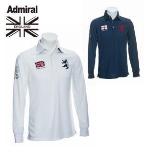 アドミラル Admiral ゴルフウェア ポロシャツ 長袖 メンズ ロングスリーブ フラッグ ポロシャツ ADMA891