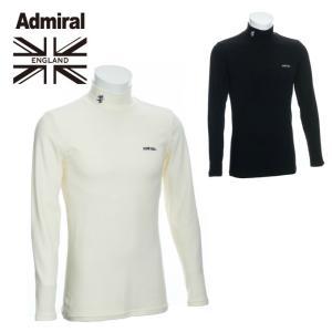 アドミラル Admiral ゴルフウェア 長袖シャツ メンズ 無地ハイネックシャツ ADMA8T7