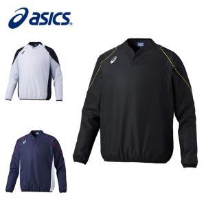 アシックス 野球 ウインドブレーカージャケットVネック メンズ Vジャン LS 長袖 2121A003 asics|himaraya
