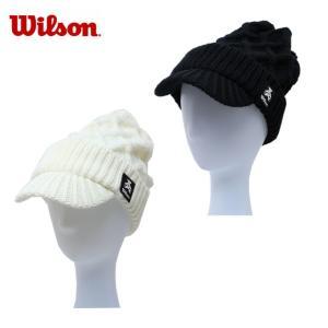 ウイルソン Wilson ゴルフ ニット帽 レディース ツバ付きニットキャップ WBC1835LW|himaraya