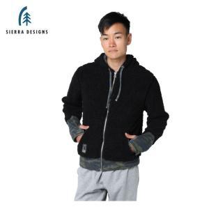 シェラデザインズ SIERRA DESIGNS スウェットジャケット メンズ ボアフリース 10994355 BK|himaraya