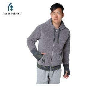 シェラデザインズ SIERRA DESIGNS スウェットジャケット メンズ ボアフリース 10994355 GY|himaraya