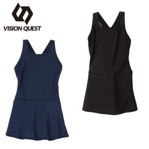 ビジョンクエスト VISION QUEST   スクール水着 ワンピース 女の子 ジュニア ガールズスカート VQ470209I02|himaraya