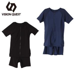 ビジョンクエスト VISION QUEST   スクール水着 セパレーツ 女の子  ジュニア スクール半袖セパレーツ VQ470209I05|himaraya