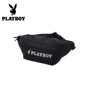 プレイボーイ PLAYBOY ボディバッグ メンズ レディース ウエストポーチ PL-HBD08 BK|himaraya