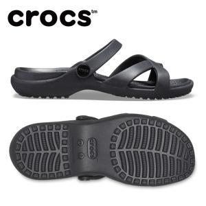 クロックス サンダル レディース meleen crossband sandal w メレーン クロスバンド ウィメン 205472-001 crocs|himaraya