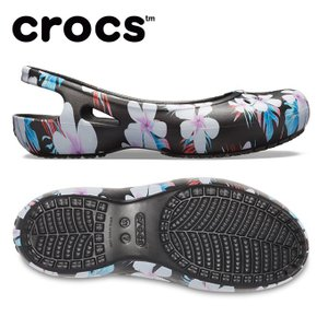 クロックス サンダル レディース Women's Kadee Seasonal Graphic Slingback カディ シーズナル スリングバック ウィメン 205639-98F crocs|himaraya