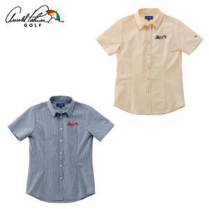 アーノルドパーマー arnold palmer ゴルフウェア 半袖シャツ レディース ストライプ半袖シャツ AP220301I03|himaraya