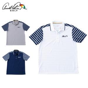 アーノルドパーマー arnold palmer ゴルフウェア ポロシャツ 半袖 メンズ ボーダーコン...