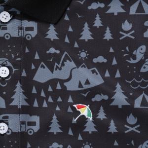 アーノルドパーマー arnold palmer ゴルフウェア ポロシャツ 半袖 メンズ 総柄PT半袖ポロ AP220101I09|himaraya|06