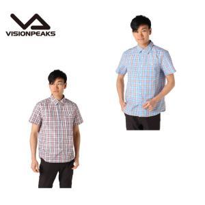 ビジョンピークス VISIONPEAKS 半袖シャツ メンズ チェック SS SH VP171105I02 アウトドアシャツ|himaraya