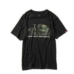 ノースフェイス Tシャツ 半袖 メンズ ショートスリーブカモフラージュロゴティー S/S Camouflage Logo Tee NT31932 K THE NORTH FACE|himaraya