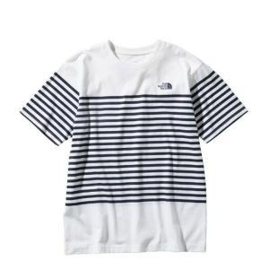 ノースフェイス Tシャツ 半袖 メンズ S/S Panel Border Tee ショートスリーブパネルボーダーティー NT31950 W THE NORTH FACE|himaraya
