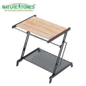 手軽に展開でき、コンパクトに折りたためる Z型のミニテーブルです。 テーブルフロントにはシェラカップ...